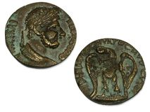 Muntstukken van Roman Imperium Stock Foto's