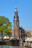 Muntstuktoren in Amsterdam, Nederland Stock Foto's