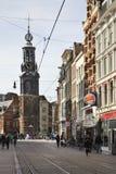 Munttoren (硬币塔)在阿姆斯特丹 荷兰 免版税库存照片