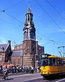 Munttoren Clock, Amsterdam. Stock Photography