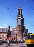 Munttoren Clock, Amsterdam. Royalty Free Stock Photography