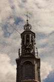 The Munttoren (Coin tower) in style the Renaissance in Amsterdam Stock Image