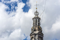 The Munttoren tower in Amsterdam, Netherlands. Stock Photography