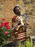 Muntu Valdo, músico camerunés Foto de archivo