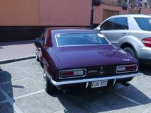 Muntvoorwaarde Chevrolet Camaro in Lima wordt tentoongesteld dat Stock Afbeelding