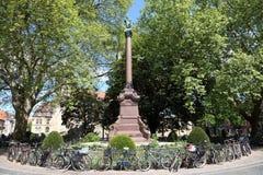 Munument kolonn i staden av Munster Royaltyfri Bild