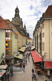 Munzgasse gata i Dresden germany Royaltyfria Foton
