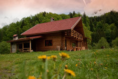 Muontain cabin Royalty Free Stock Photography