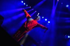Muore Antwoord esegue in tensione al castello elettrico fotografia stock