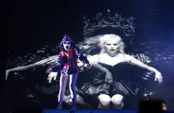 Muore l'esecuzione di Antwoord vive nelle proiezioni di Barcellona fotografie stock libere da diritti