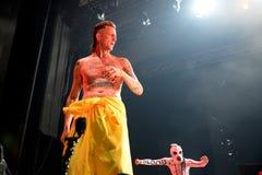 Muore la banda di rave di rap di Antwoord esegue al festival del sonar Fotografia Stock Libera da Diritti