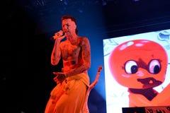 Muore la banda di rave di rap di Antwoord esegue al festival del sonar Fotografia Stock