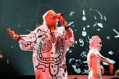 Muore la banda di rave di rap di Antwoord esegue al festival del sonar Fotografie Stock Libere da Diritti