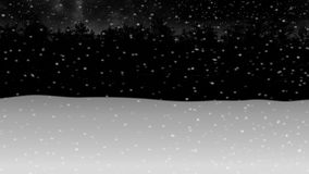 Muovendosi attraverso la foresta animation2 della neve di inverno di notte illustrazione vettoriale