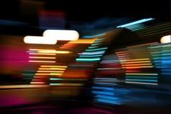 Muoversi degli indicatori luminosi di colore Fotografia Stock Libera da Diritti