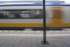 Muoversi del treno Immagine Stock Libera da Diritti