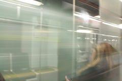 Muoversi del treno di Boston Immagini Stock Libere da Diritti