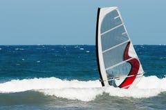 Muoversi del Windsurfer Fotografie Stock
