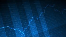 Muoversi di economia di numeri illustrazione vettoriale