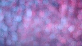 Muoversi rosa e blu delle luci del bokeh Illuminazione del fondo archivi video