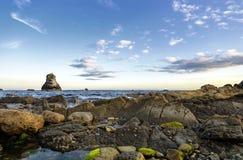 Mupe Bay. Sea stacks at Mupe Bay on Dorset's Jurassic Coast Royalty Free Stock Photo