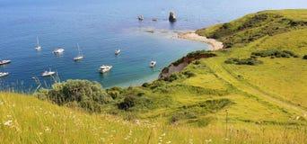 Mupe-Bucht mit Yachten Lizenzfreie Stockfotografie