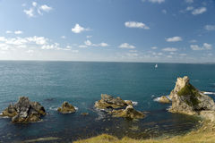 Mupe Rocks near Lulworth Cove Royalty Free Stock Images
