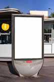 Mupi Madrid. Display advertising on the streets of madrid Stock Images