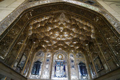 Muqarnas vault decorated in Chehel Sotoun Palace  in Isfahan,Ira Stock Photography