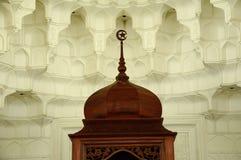 Muqarnas and wooden crescent at Sultan Ismail Airport Mosque - Senai Airport Stock Photography