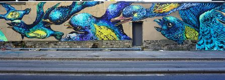 Mur罗莎・帕克斯绘与街道艺术由著名壁画家在巴黎 免版税库存照片