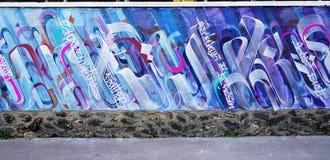 Mur罗莎・帕克斯绘与街道艺术由著名壁画家在巴黎 免版税图库摄影
