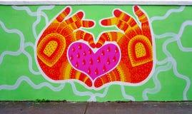 Mur罗莎・帕克斯绘与街道艺术由著名壁画家在巴黎 免版税库存图片