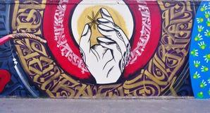 Mur罗莎・帕克斯绘与街道艺术由著名壁画家在巴黎 库存图片