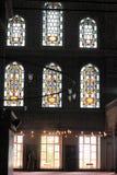 Mur à l'intérieur de mosquée bleue photo stock
