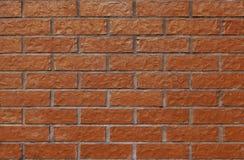 Mur égal et simple avec de nouvelles, gentilles briques Photographie stock libre de droits