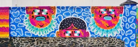 Mur Роза Паркс покрашенная с искусством улицы известными muralists в Париже Стоковая Фотография