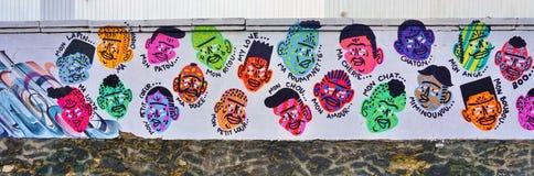 Mur Роза Паркс покрашенная с искусством улицы известными muralists в Париже Стоковые Изображения