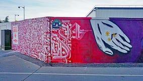 Mur Роза Паркс покрашенная с искусством улицы известными muralists в Париже Стоковое фото RF