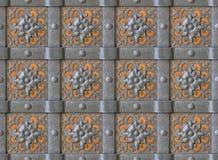Mur 100% en métal sans joint Photographie stock