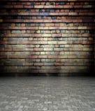 mur 3d avec la texture de brique, intérieur vide Photographie stock