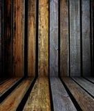 mur 3d avec la texture en bois, intérieur vide Images stock