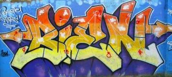 Mur abstrait de graffiti Photo libre de droits