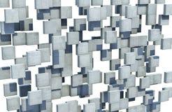 Mur abstrait des cubes concrets Photos libres de droits
