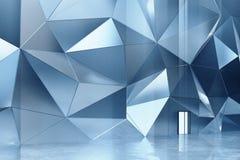Mur abstrait en métal avec le plancher en béton illustration stock