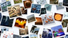 Mur animé d'image de cartes de photo rendu 3d 4K banque de vidéos
