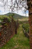 Mur antique construit par des personnes de Wari Photographie stock libre de droits