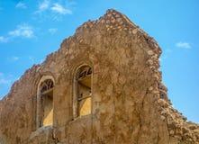 Mur antique d'église Images libres de droits