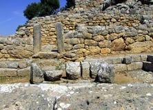 Mur antique dans Lato Image libre de droits