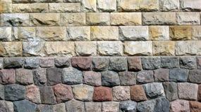 Mur antique de château : composition froide et chaude de couleur images stock